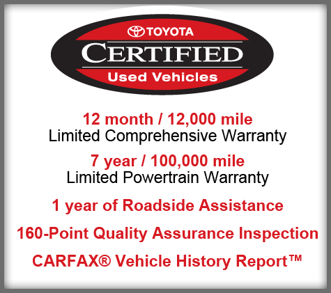 Beautiful Toyota Certified Vehicles In Eau Claire