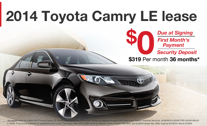 2014 toyota camry lease eau claire toyota dealership dealer. Black Bedroom Furniture Sets. Home Design Ideas