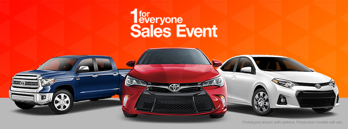 Toyota Sales Event >> 1 For Everyone Sales Event Deal On Toyota Camry Rav4 More Dealer
