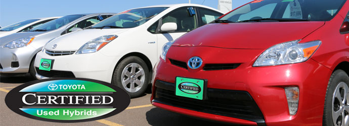 Toyota Certified Used Hybrid Vehicles Available At Markquart