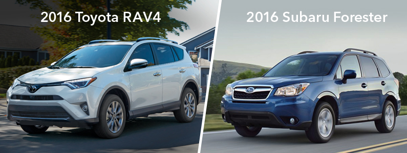 Image Of 2016 Rav4 And Forester